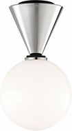 Mitzi H148501S-PN-BK Piper Modern Polished Nickel / Black LED Flush Mount Ceiling Light Fixture