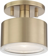 Mitzi H159601-AGB Nora Contemporary Aged Brass LED Overhead Light Fixture