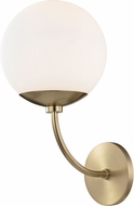 Mitzi H160101-AGB Carrie Contemporary Aged Brass Lamp Sconce