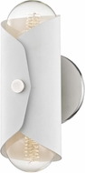 Mitzi H172102-PN-WH Immo Contemporary Polished Nickel / White Lighting Wall Sconce