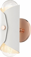 Mitzi H172102-POC-WH Immo Contemporary Polished Copper / White Wall Sconce Lighting