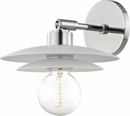Mitzi H175101S-PN-WH Milla Contemporary Polished Nickel / White Wall Light Sconce