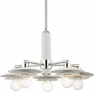Mitzi H175805-PN-WH Milla Contemporary Polished Nickel / White Ceiling Chandelier