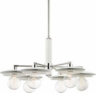 Mitzi H175806-PN-WH Milla Contemporary Polished Nickel / White Chandelier Light