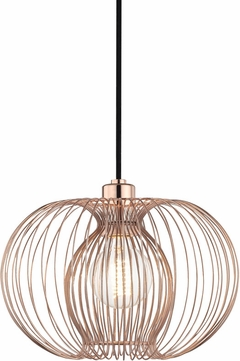 Mitzi H181701S-POC Jasmine Contemporary Polished Copper Ceiling Pendant Light