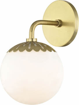 Mitzi H193301-AGB Paige Contemporary Aged Brass Wall Lighting Fixture