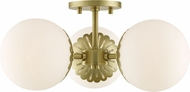 Mitzi H193603-AGB Paige Modern Aged Brass Ceiling Lighting