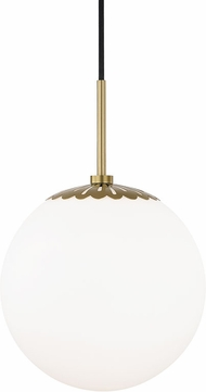 Mitzi H193701L-AGB Paige Contemporary Aged Brass 10.5  Mini Pendant Light Fixture