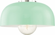 Mitzi H199501L-PN-MNT Avery Modern Polished Nickel / Mint 14  Overhead Lighting