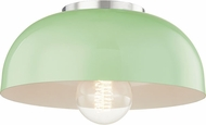 Mitzi H199501S-PN-MNT Avery Modern Polished Nickel / Mint 11  Flush Mount Ceiling Light Fixture