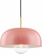 Mitzi H199701L-AGB-PK Avery Contemporary Aged Brass / Pink Ceiling Pendant Light