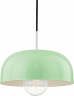 Mitzi H199701L-PN-MNT Avery Modern Polished Nickel / Mint Drop Ceiling Light Fixture