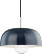 Mitzi H199701L-PN-NVY Avery Contemporary Polished Nickel / Navy Drop Lighting Fixture