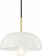 Mitzi H199701S-AGB-CR Avery Modern Aged Brass / Cream Mini Pendant Lighting