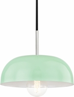 Mitzi H199701S-PN-MNT Avery Modern Polished Nickel / Mint Mini Lighting Pendant