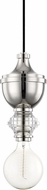 Mitzi H201701-PN Elliot Contemporary Polished Nickel Mini Hanging Pendant Light