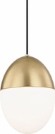 Mitzi H206701L-AGB Orion Modern Aged Brass 10  Mini Pendant Hanging Light
