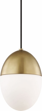 Mitzi H206701S-AGB Orion Contemporary Aged Brass 7.5  Mini Drop Ceiling Lighting