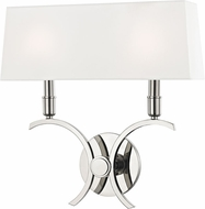 Mitzi H212102L-PN Gwen Contemporary Polished Nickel 14.5  Wall Sconce Lighting