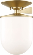 Mitzi H214601L-AGB Audrey Contemporary Aged Brass 7.5  Ceiling Light Fixture