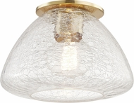 Mitzi H216501S-AGB Maya Contemporary Aged Brass 9  Flush Ceiling Light Fixture