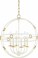 Mitzi H236706-GL-CR Jade Contemporary Gold Leaf / Cream 18  Hanging Light