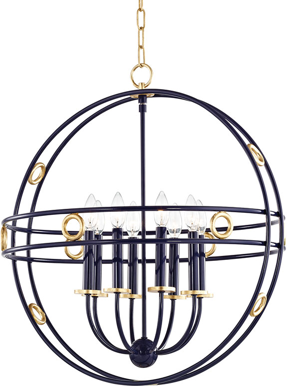 Mitzi H236708 Gl Nvy Jade Contemporary Gold Leaf Navy 24 Hanging Pendant Light