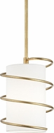 Mitzi H237701S-GL Carly Contemporary Gold Leaf Mini Drop Ceiling Lighting