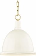 Mitzi H238701S-AGB-CR Blair Modern Aged Brass / Cream Mini Lighting Pendant