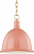 Mitzi H238701S-AGB-PK Blair Contemporary Aged Brass / Pink Mini Pendant Lamp