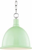 Mitzi H238701S-PN-MNT Blair Modern Polished Nickel / Mint Mini Hanging Lamp