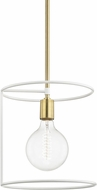 Mitzi H246701-AGB-WH Dana Contemporary Aged Brass / White Mini Hanging Pendant Lighting
