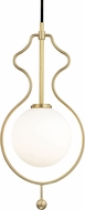 Mitzi H248701-AGB Abigail Contemporary Aged Brass LED Mini Pendant Hanging Light