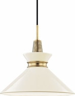 Mitzi H251701S-AGB-CR Kiki Contemporary Aged Brass / Cream 14  Drop Ceiling Light Fixture