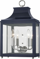 Mitzi H259102-PN-NVY Leigh Modern Polished Nickel / Navy Wall Light Sconce
