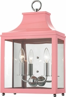 Mitzi H259102-PN-PK Leigh Contemporary Polished Nickel / Pink Wall Sconce Light