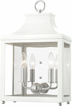 Mitzi H259102-PN-WH Leigh Modern Polished Nickel / White Wall Sconce