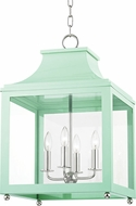Mitzi H259704L-PN-MNT Leigh Contemporary Polished Nickel / Mint Pendant Light