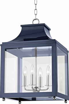 Mitzi H259704L-PN-NVY Leigh Modern Polished Nickel / Navy Lighting Pendant