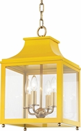 Mitzi H259704S-AGB-MG Leigh Contemporary Aged Brass / Marigold Mini Hanging Light