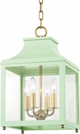Mitzi H259704S-AGB-MNT Leigh Modern Aged Brass / Mint Mini Pendant Light Fixture