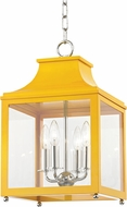 Mitzi H259704S-PN-MG Leigh Modern Polished Nickel / Marigold Mini Pendant Hanging Light