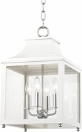Mitzi H259704S-PN-WH Leigh Modern Polished Nickel / White Mini Ceiling Light Pendant