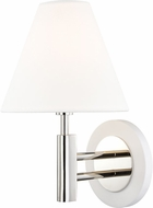 Mitzi H264101-PN-WH Robbie Contemporary Polished Nickel / White Lighting Wall Sconce