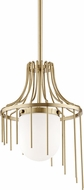 Mitzi H266701S-AGB Kylie Modern Aged Brass Mini Drop Lighting Fixture