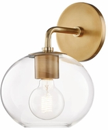 Mitzi H270101-AGB Margot Contemporary Aged Brass Wall Sconce