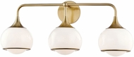 Mitzi H281303-AGB Reese Contemporary Aged Brass 3-Light Vanity Light