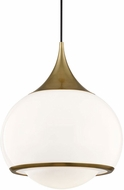 Mitzi H281701L-AGB Reese Modern Aged Brass Drop Lighting