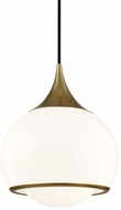 Mitzi H281701M-AGB Reese Contemporary Aged Brass Mini Ceiling Pendant Light