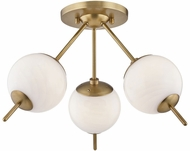 Mitzi H282603-AGB Remi Contemporary Aged Brass Xenon Flush Mount Lighting